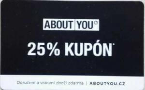 25% slevový kód do About You