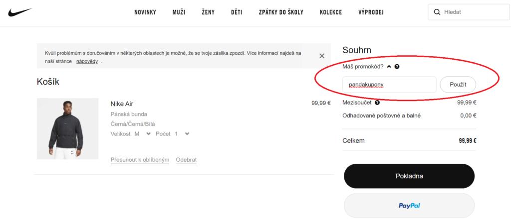 Promo kód Nike.com/cz