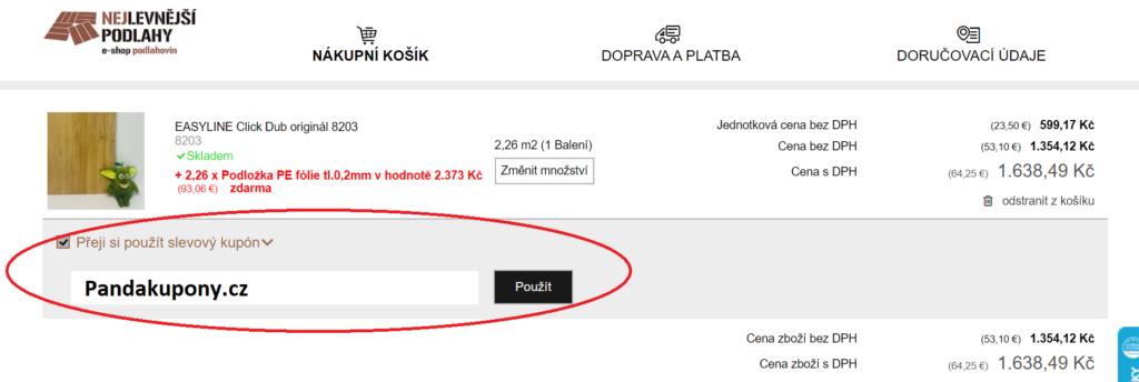 Slevový kupón Nejlevnejsipodlahy.cz