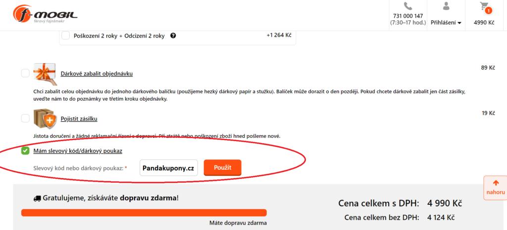Slevový kupón f-mobil.cz